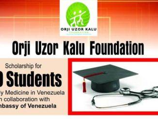 Orji-Uzor-Kalu-Foundation-2021-Scholarship-to-Study-in-Venezuela